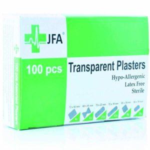 wasserfeste Pflaster JFA transparent
